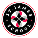 The St. James School logo.