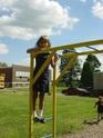 Student enjoying the playground