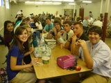 High School students enjoying lunch