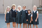 First grade girls pause for a quick photo before recess.
