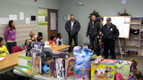 The largest toy drive in Bergen County P.B.A. history has Westwood, New Jersey private school Primoris Academy donate over 50 toys to Westwood Police Department. Toys were purchased using the net proceeds that Primoris Academy students raised by selling holiday table center pieces which they made themselves.