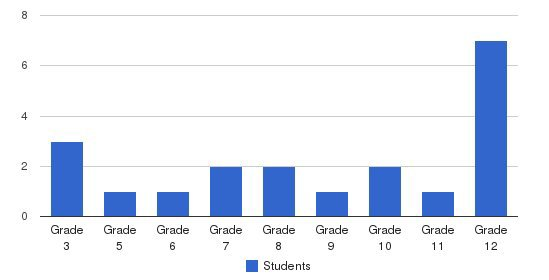 Stillwater Academy Students by Grade