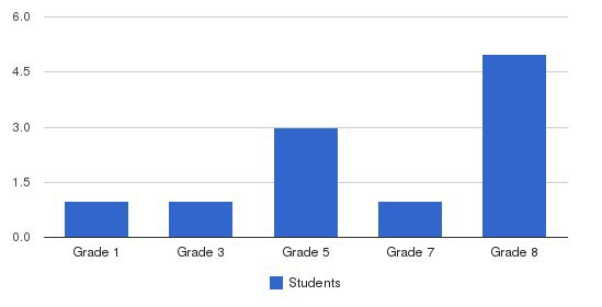 Agnes Memorial Christian Academy Students by Grade