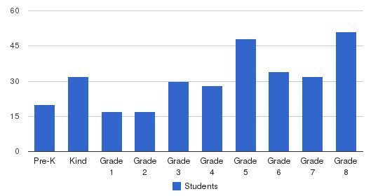 St Agnes School Students by Grade
