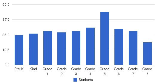 St Bridget School Students by Grade