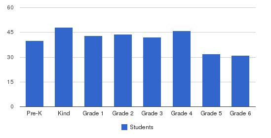 South Boston Catholic Academy Students by Grade