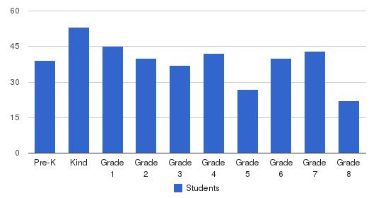 St Michael School Students by Grade