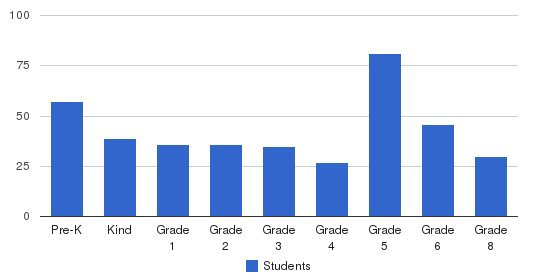 St Theresa School Students by Grade