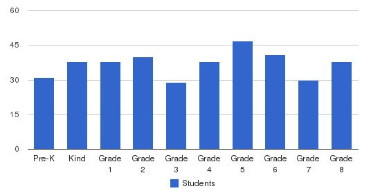 Holy Name Elementary School Students by Grade