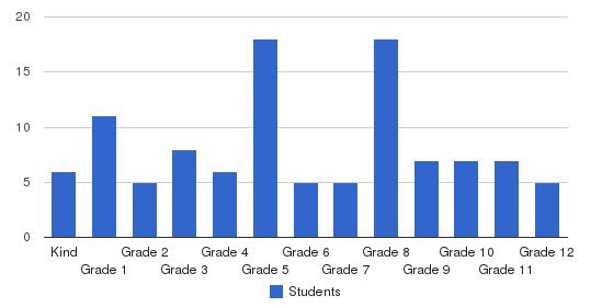 Springfield Christian Academy Students by Grade