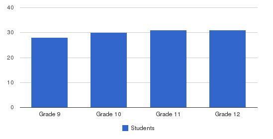 Southwest MN Christian High School Students by Grade