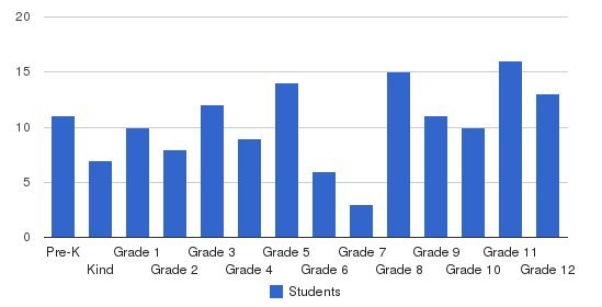 Strider Academy Students by Grade