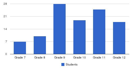 Calvary Online School Students by Grade