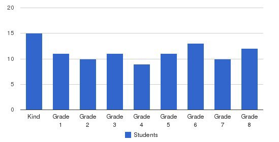 Bellevue Christian Academy Students by Grade
