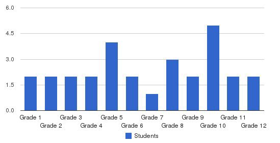 The Church Academy Students by Grade
