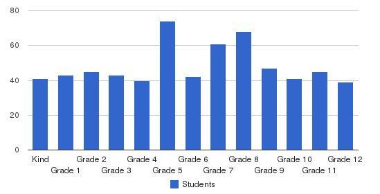 Hillel Yeshiva School Students by Grade