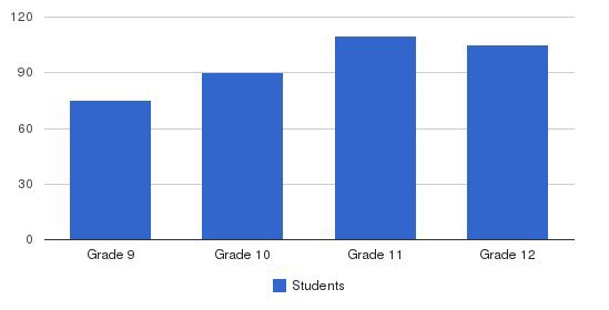 Queen Of Peace High School Students by Grade