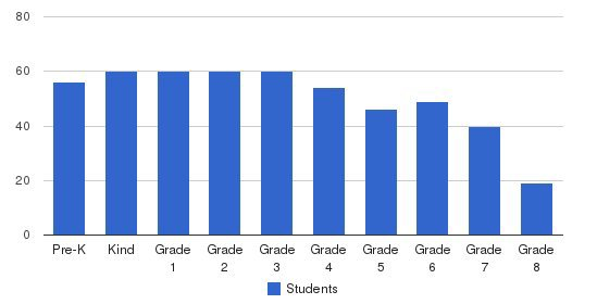 St Aloysius School Students by Grade