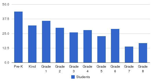 Mater Dei Academy Students by Grade
