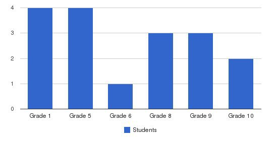 Tet Christian Academy Students by Grade