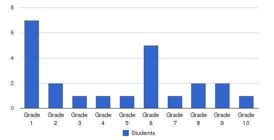 Vineland Mennonite School Students by Grade