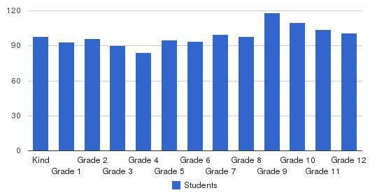 Dalton School Students by Grade