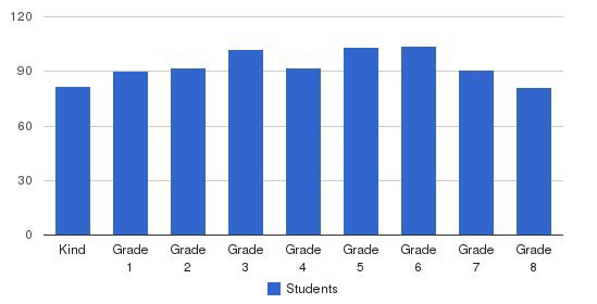 St Agnes Cathedral School Students by Grade