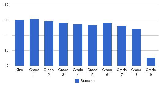 St Bernards School Students by Grade