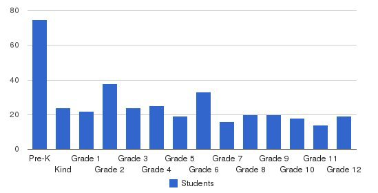 Lee Christian School Students by Grade