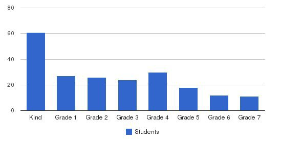 Brice Christian Academy Elementary School Students by Grade