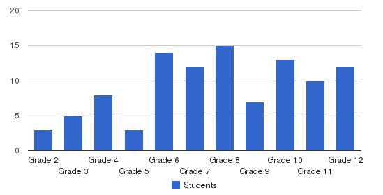 Frostig School Students by Grade
