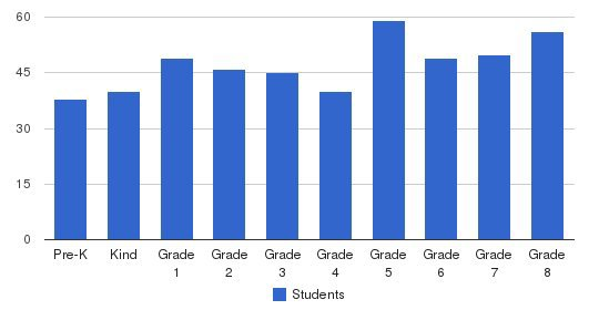 St Columbkille Parish School Students by Grade