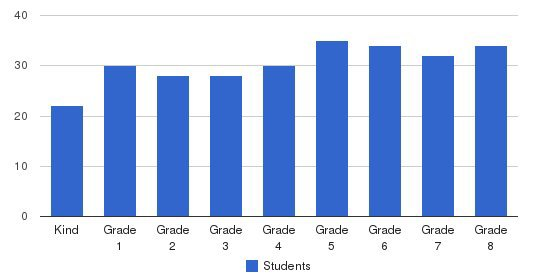 St Matthias School Students by Grade