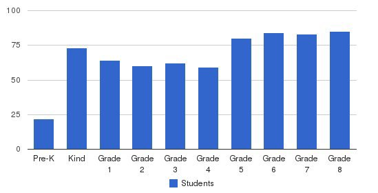 St Jerome School Students by Grade