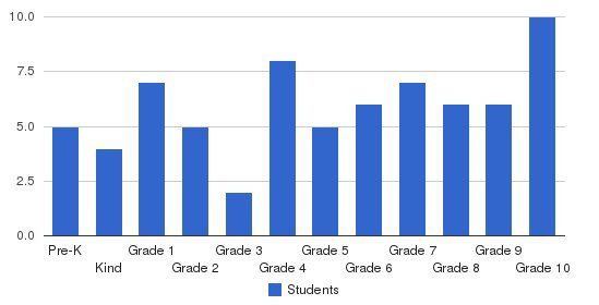 Memphis Junior Academy Students by Grade