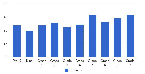 St Ambrose School Students by Grade