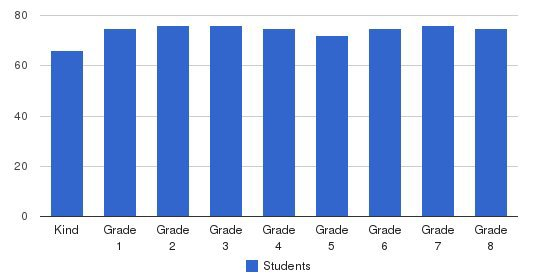 St Rita School Students by Grade
