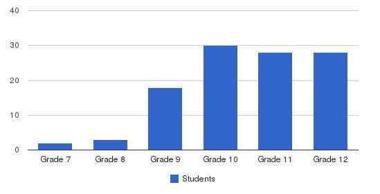 Cross Creek Programs Students by Grade