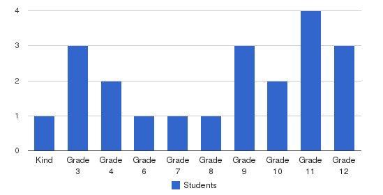 University Academy Students by Grade