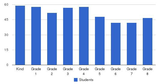 St Bernadette School Students by Grade