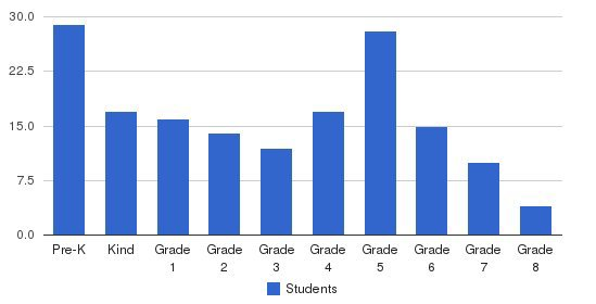 Ware Academy Students by Grade