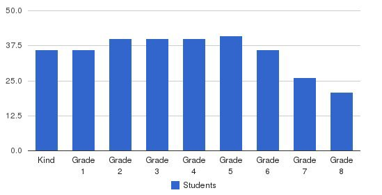 Open Window School Students by Grade