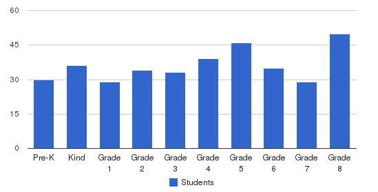Holy Angels School Students by Grade