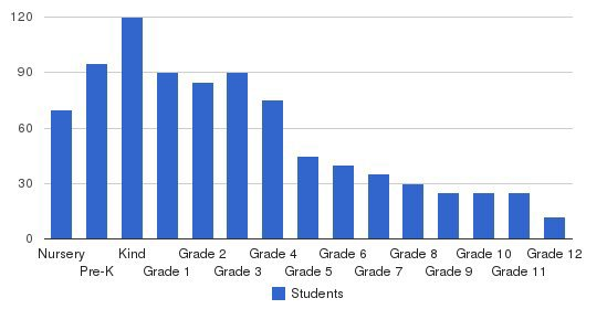 British School of Chicago Students by Grade
