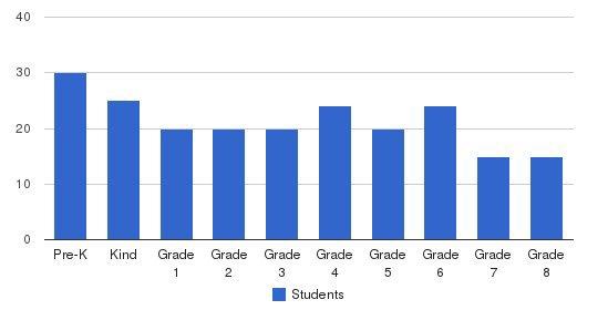 Medinah Christian School Students by Grade