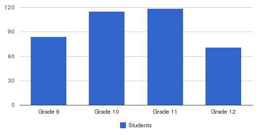 Machon Bais Yaakov Hilda Birn High School Students by Grade
