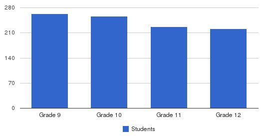 Servite High School Students by Grade