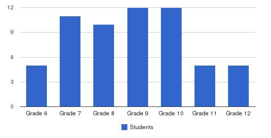 Meridian Academy Students by Grade