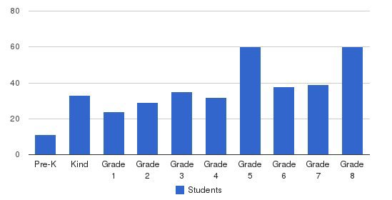 St. Elizabeth Elementary School Students by Grade