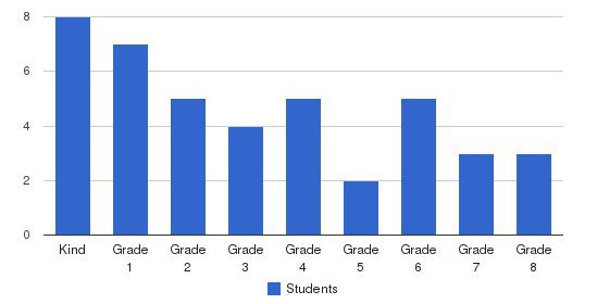 New Life Christian Academy Students by Grade